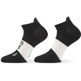 ASSOS Hot Summer Calcetines, negro/blanco